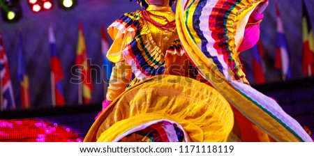 Mexican traditional costume for girl #1171118119