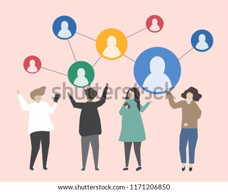 Connecting people with each other illustration #1171206850
