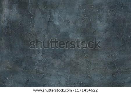 Abstract grunge art decorative design gray blue dark stucco concrete background unique wall texture #1171434622