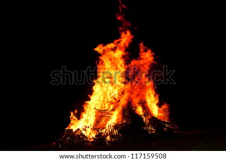 village bonfire - disposing of unwanted pallets #117159508