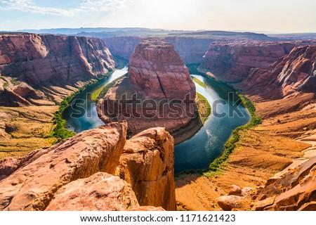 horseshoe bend at sunset. -page arizona,usa. #1171621423