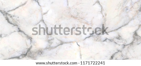 Long and wide background. Light pastel abstract marble texture, natural stone for design with dark gray patterns. #1171722241