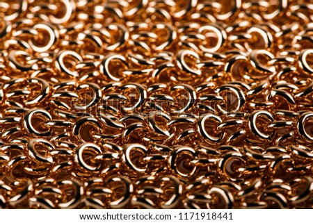 jewelry. Gold chain close-up on a white background #1171918441