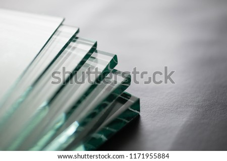 Glass Factory produces a variety of transparent glass thicknesses. #1171955884
