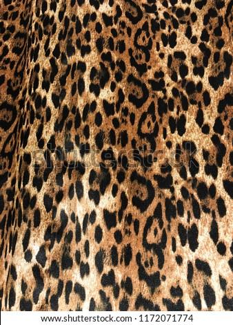 Fashionable Leopard Seamless Pattern. Stylized Spotted Leopard Skin Background