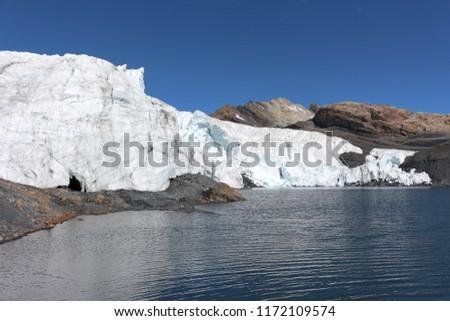 A peruvian glacier named Pastoruri Glacier. Ancash, Peru #1172109574