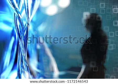 surgeon blurred background / concept medicine, background surgery, work clothes, blur modern background in medical clinic defocus #1172146543