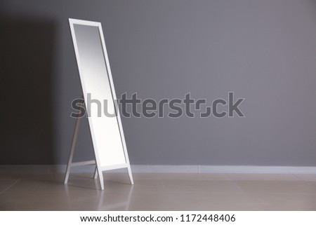 Large mirror near color wall #1172448406