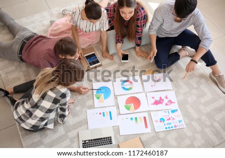 Meeting of business team working in office #1172460187