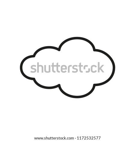 cloud icon in trendy flat design  #1172532577