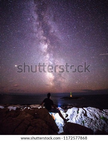 Pearson looking at the Milky Way #1172577868