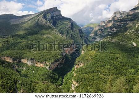 Anisclo gorge, Ordesa national park, Huesca, Spain #1172669926