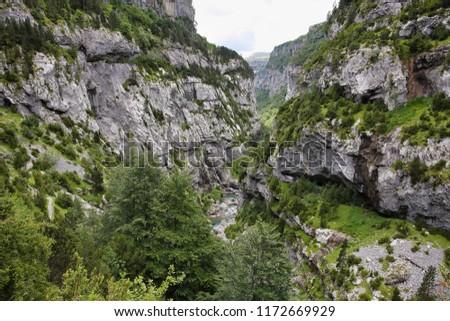 Anisclo gorge, Ordesa national park, Huesca, Spain #1172669929