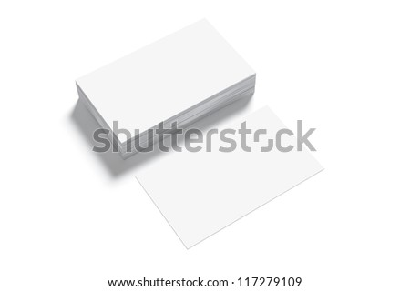 Blank Business Card isolated on white