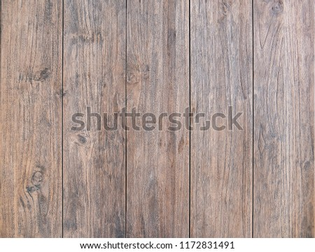 Wood table top view texture, use us wooden texture background used as space for text or image backdrop design #1172831491