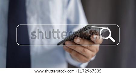 Businessman using Searching Browsing Internet internet of things (IoT) #1172967535