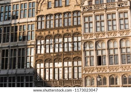 Old Belgian Architecture in Antwerp #1173023047