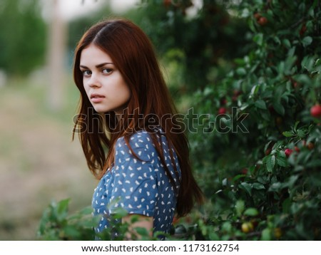 woman nature red hair #1173162754