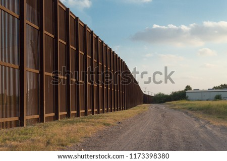 United States - Mexico Border Fence #1173398380
