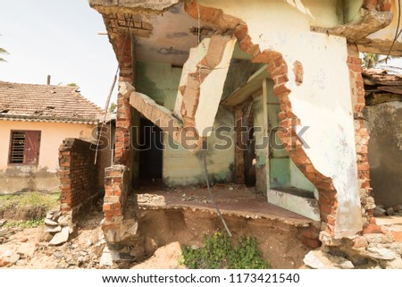 Broken Homes after Tsunami, India