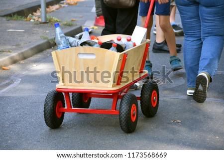 handcart at a procession Royalty-Free Stock Photo #1173568669