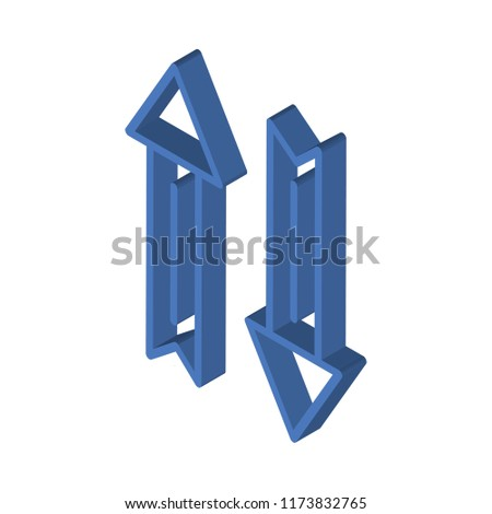 Mouse arrow isometric left top view 3D icon #1173832765
