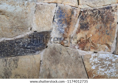 The Stone wall  texture and background  #1174012735