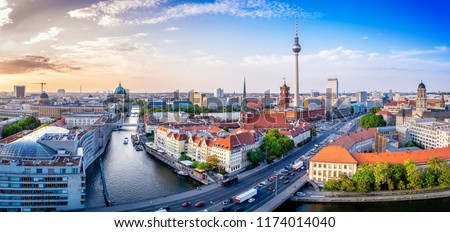 panoramic view at the berlin city center #1174014040