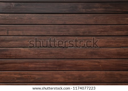 Dark brown wood background, wooden table top texture. #1174077223