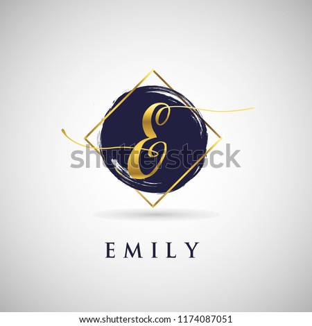 Simple Elegance Initial Letter E Gold Logo Type Sign Symbol Icon Royalty-Free Stock Photo #1174087051