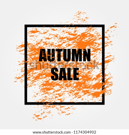 Autumn sale background layout decorate with leaves for shopping #1174304902