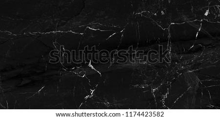 Black marble natural pattern for background, abstract natural marble black and white, black marble stone. high resolution marble #1174423582