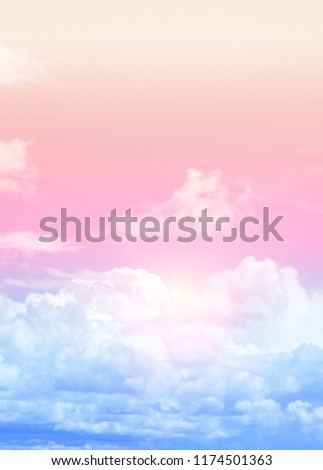 Sky and clouds vertical photo - book or magazine format