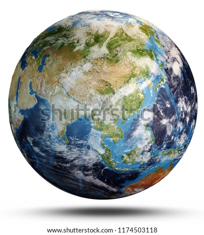 World map. Elements of this image furnished by NASA. 3d rendering #1174503118