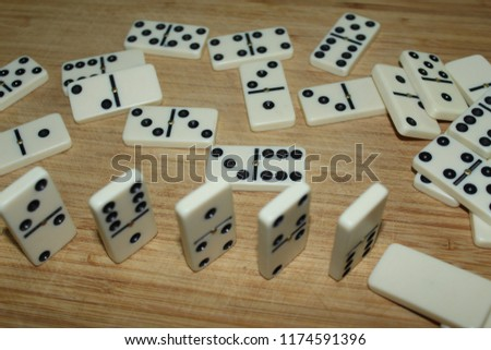 dominoes on the board #1174591396