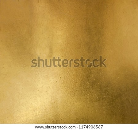 Shiny yellow leaf gold foil texture background #1174906567