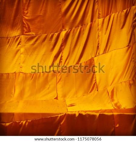 yellow robe of Buddhist monk pattern background #1175078056