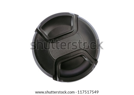 Lens cap on a white background #117517549