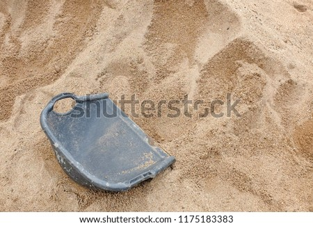 sand scoop at construction site. #1175183383