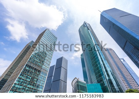 modern office building with blue sky #1175183983