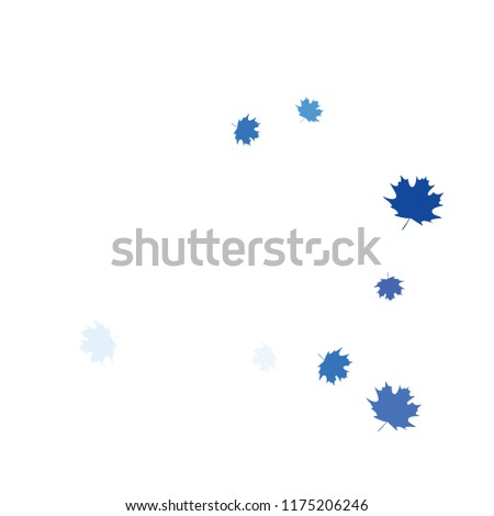 Confetti of multicolored leaves isolated on white background.Falling confetti from minimalistic maple leaves. Abstract leaf for label, card, poster, cover, leaflet, textile design. #1175206246