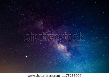 Milky way,galaxy,cosmos on dark sky #1175283004