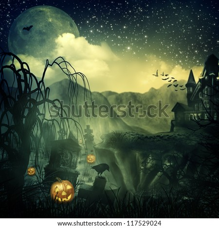 Scary Movie. Abstract halloween backgrounds for your design #117529024