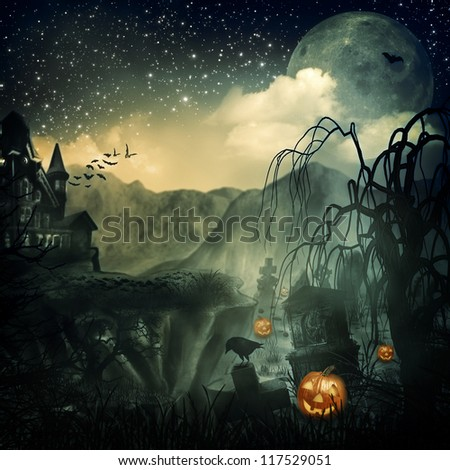 Scary Movie. Abstract halloween backgrounds for your design #117529051