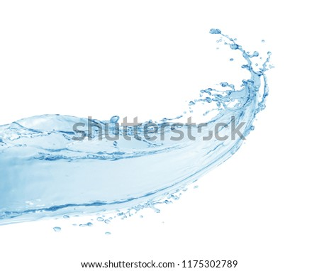 Water splash,water splash isolated on white background,water #1175302789