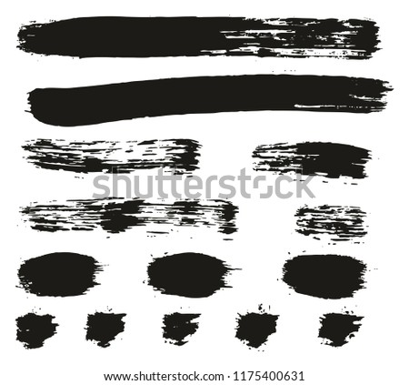Paint Brush Lines High Detail Abstract Vector Background Set 85 #1175400631