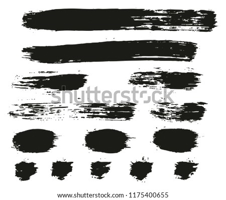Paint Brush Lines High Detail Abstract Vector Background Set 86 #1175400655