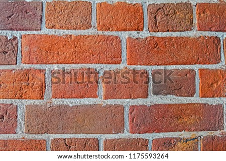 Vintage pattern with close-up red brick  colorful background. #1175593264