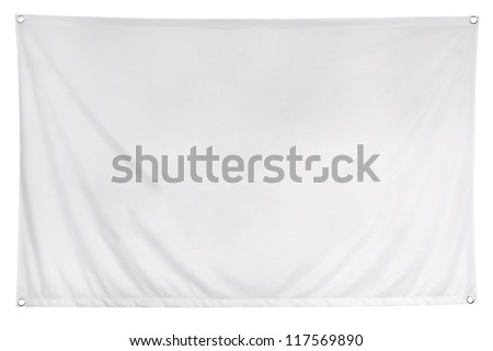 The empty flag is isolated on a white background. Clipping path included.