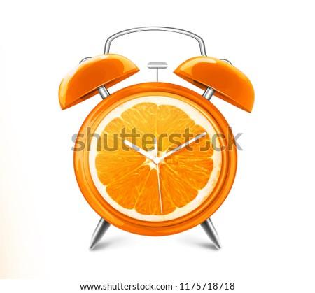 ORANGE FRUIT CLOCK #1175718718